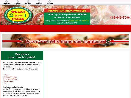 Pizza Welat (418-649-7000) - Onglet de site Web - http://www.pizzawelat.ca