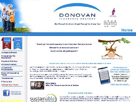 Donovan Insurance Brokers Inc (519-513-4622) - Onglet de site Web - http://www.donovaninsurance.com