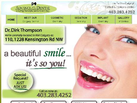 Advance Your Health Dental (403-798-0947) - Onglet de site Web - http://www.calgarydentist.ca