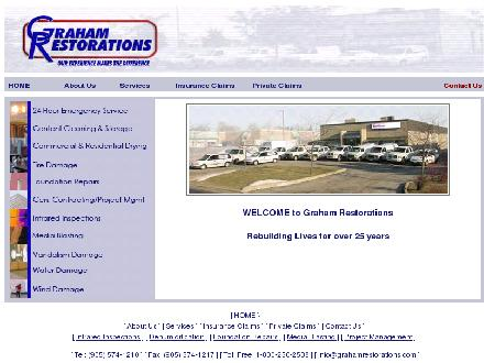 Graham Restorations & Cleaning Services (905-574-1210) - Onglet de site Web - http://www.grahamrestorations.com