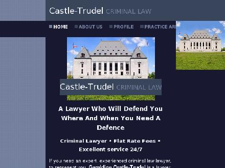 Castle-Trudel (613-237-8409) - Onglet de site Web - http://www.castletrudel.com