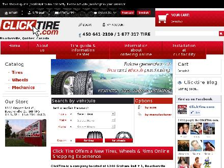 ClickTire.com (450-641-2100) - Onglet de site Web - http://www.clicktire.com