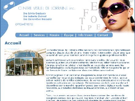 Centre Visuel De Lorraine Inc (450-621-3953) - Onglet de site Web - http://www.centrevisueldelorraine.com