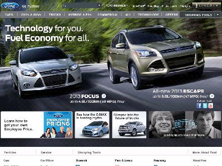 Ford - Website thumbnail - http://www.ford.ca