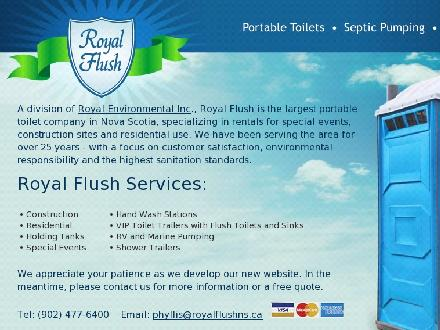 Royal Flush Services Limited (902-477-6400) - Onglet de site Web - http://www.royalflushns.ca