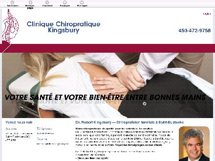 Clinique Chiropratique Kingsbury (450-472-9758) - Onglet de site Web - http://chirokingsbury.ca/