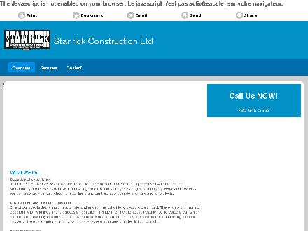 Stanrick Construction Ltd (780-645-2992) - Onglet de site Web - http://stanrickconstruction.ca