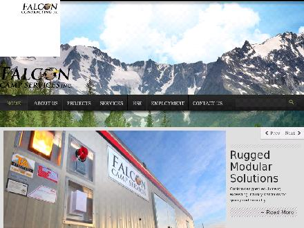 Falcon Contracting Ltd (250-774-2548) - Onglet de site Web - http://www.falconcontractingltd.com