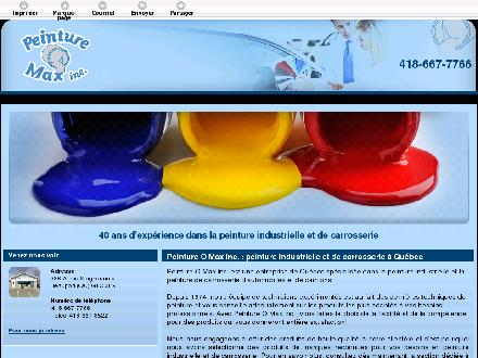 Peinture-O-Max Inc (418-667-7766) - Onglet de site Web - http://peintureomax.com