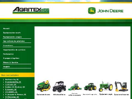 Agritex Centre Qu&eacute;bec Inc (418-831-3701) - Onglet de site Web - http://www.agritex.ca