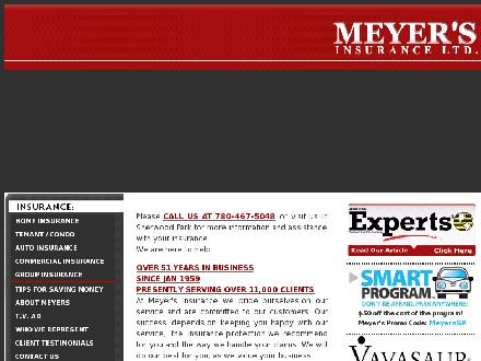 Meyer's Insurance Ltd (780-467-5048) - Onglet de site Web - http://www.meyersinsurance.com