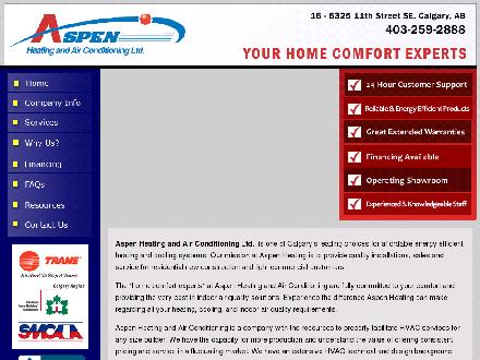 Aspen Heating & Air Conditioning (403-259-2888) - Website thumbnail - http://www.aspenheating.ca
