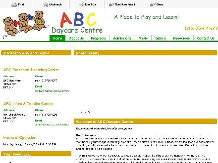 ABC Daycare Centre (613-729-1677) - Website thumbnail - http://abcdaycarecentre.ca