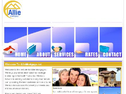 Allie Mortgage Corp (416-901-9931) - Onglet de site Web - http://www.alliemortgage.ca