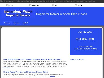 International Watch Repair & Service (604-987-4691) - Onglet de site Web - http://watchrepairservice.ca/