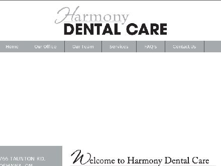 Harmony Dental Care (905-720-3555) - Website thumbnail - http://www.harmonydental.ca
