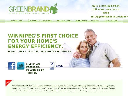 Green Brand Home Energy Solutions (204-800-0885) - Onglet de site Web - http://www.greenbrandsolutions.com