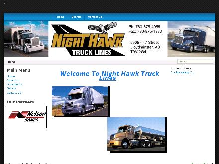 Night Hawk Truck Lines Inc (780-875-4955) - Onglet de site Web - http://www.nighthawktruck.ca