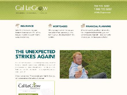Cal LeGrow Insurance Ltd (709-466-2937) - Onglet de site Web - http://www.callegrow.com