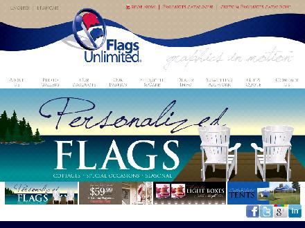 Flags Unlimited (1-877-740-5260) - Website thumbnail - http://www.flagsunlimited.com