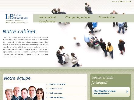 Leduc Bouthillette (819-778-1870) - Onglet de site Web - http://www.lbavocats.ca/