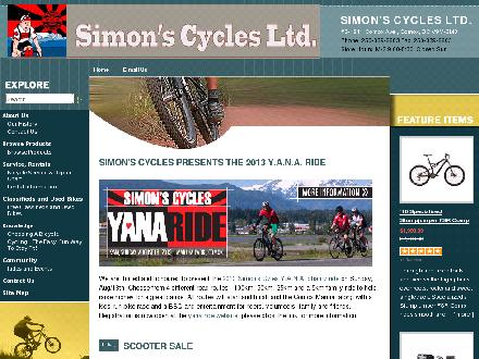 Simon's Cycles Ltd (250-339-6683) - Website thumbnail - http://www.simoncycle.com