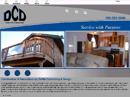 Duffin Contracting & Design (250-734-0885) - Onglet de site Web - http://contractingdesign.ca/
