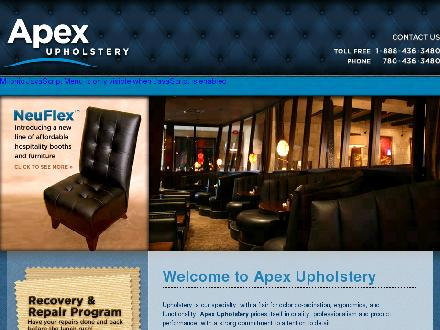 Apex Upholstery (780-436-3480) - Onglet de site Web - http://www.apexupholstery.com
