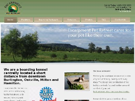 Escarpment Pet Retreat Inc (289-812-0081) - Onglet de site Web - http://www.escarpmentpetretreat.ca
