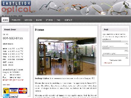 Eastleigh Optical (604-530-6155) - Website thumbnail - http://www.eastleighoptical.com
