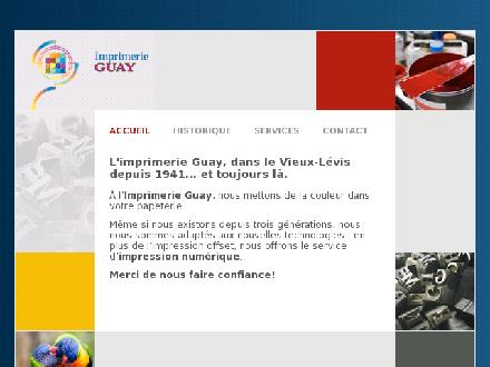 Imprimerie Guay (418-837-1583) - Website thumbnail - http://www.imprimerieguay.ca