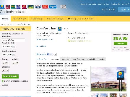 Comfort Inn Ancienne-Lorette (418-872-5900) - Website thumbnail - http://www.choicehotels.ca/cn338