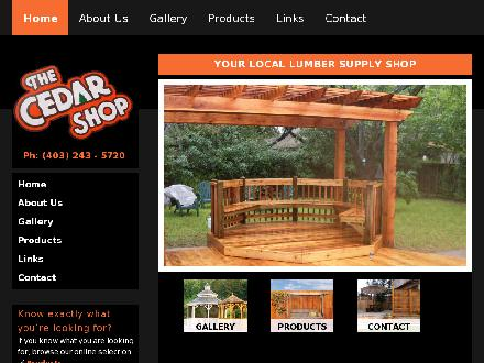 Cedar Shop Building Materials The (403-817-0919) - Website thumbnail - http://www.cedarshop.com