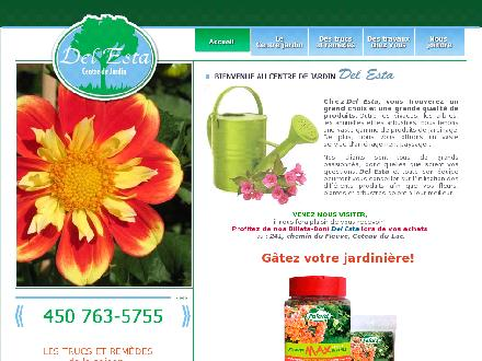 Centre De Jardin Del Esta (450-763-5755) - Onglet de site Web - http://www.centrejardindelesta.com