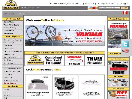 Rack Attack Car Rack & Hitch Centers (604-872-7225) - Onglet de site Web - http://www.rackattack.com