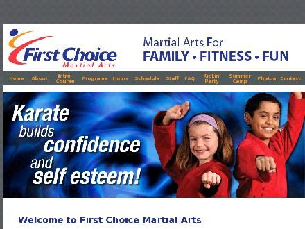 First Choice Martial Arts (905-575-1115) - Onglet de site Web - http://www.firstchoicemartialarts.com