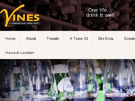 Vines-Riverbend Wine Merchants (780-434-9444) - Onglet de site Web - http://www.vineswinemerchants.com