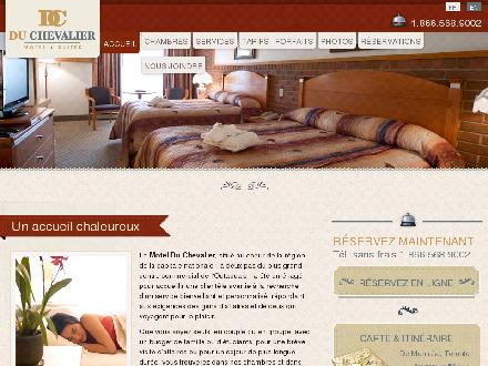 Motel Du Chevalier (1-855-215-2925) - Onglet de site Web - http://www.motelduchevalier.com