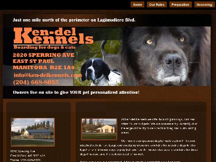 Ken-Del Kennels (204-668-8055) - Onglet de site Web - http://www.ken-delkennels.com