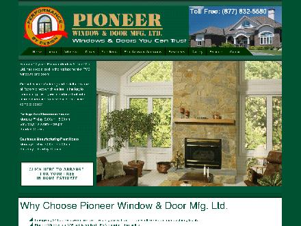 Pioneer Window & Door Mfg Ltd (204-832-5586) - Website thumbnail - http://www.pioneerwindow.com