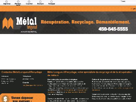 M&eacute;tal Longueuil (450-645-5555) - Onglet de site Web - http://recuperationomik.ca/