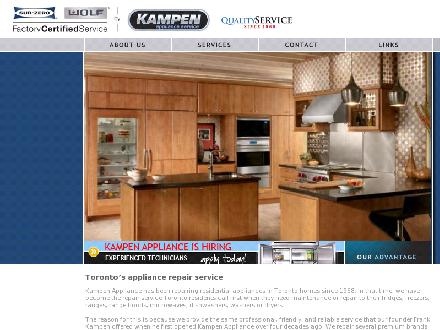 Kampen Appliance Service (905-738-1687) - Website thumbnail - http://www.kampenappliance.com