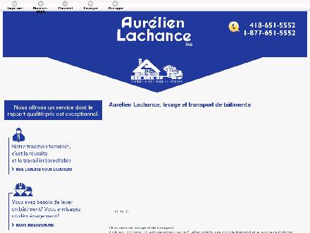 Aurélien Lachance Inc (418-651-5552) - Website thumbnail - http://aurelienlachanceinc.com