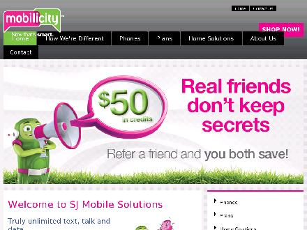Mobilicity (613-435-7283) - Website thumbnail - http://www.sjmobilesolutions.com