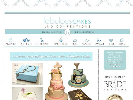 Fabulous Cakes & Confections (416-995-3790) - Website thumbnail - http://www.fabulouscakes.ca