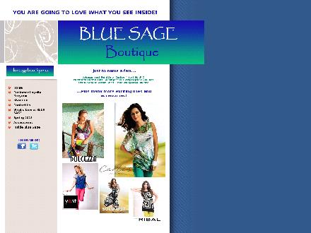 Blue Sage Boutique Ltd (403-942-7500) - Onglet de site Web - http://www.bluesageboutique.ca