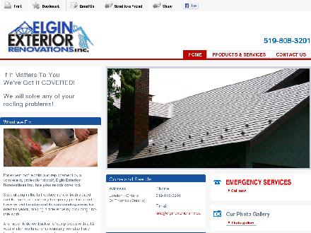 Elgin Exterior Renovations Inc (519-808-3201) - Onglet de site Web - http://elginexteriorsinc.ca