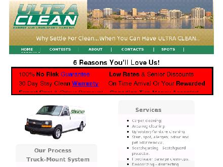 Ultra Clean Carpet And Upholstery Care Inc (902-433-1100) - Website thumbnail - http://ultracleaner.com/
