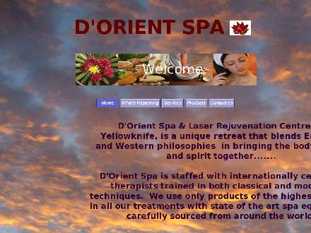 D'Orient Spa (867-669-8866) - Onglet de site Web - http://www.dorientspa.com