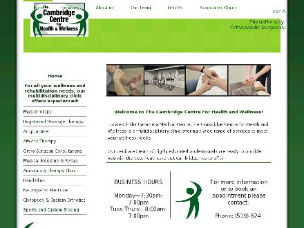 Cambridge Centre For Health & Wellness (519-624-9994) - Website thumbnail - http://www.cchw.ca